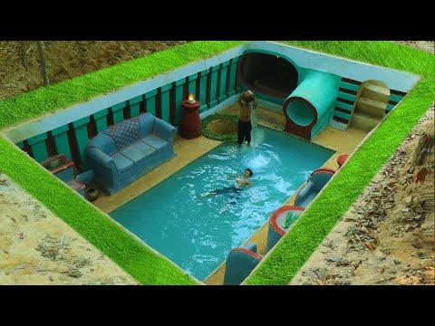 Building Cave Platinum Underground Swimming Pool With Underground Private Living Room