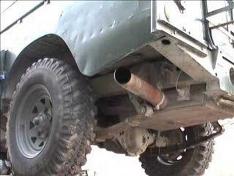 Land Rover V8 With New Exhaust Mod Youtube