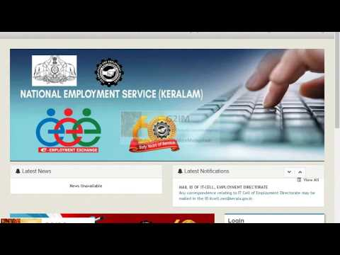 "Registration Kerala Employment exchange online  Malayalam - ""Account creation New JobSeeker"" 2017"