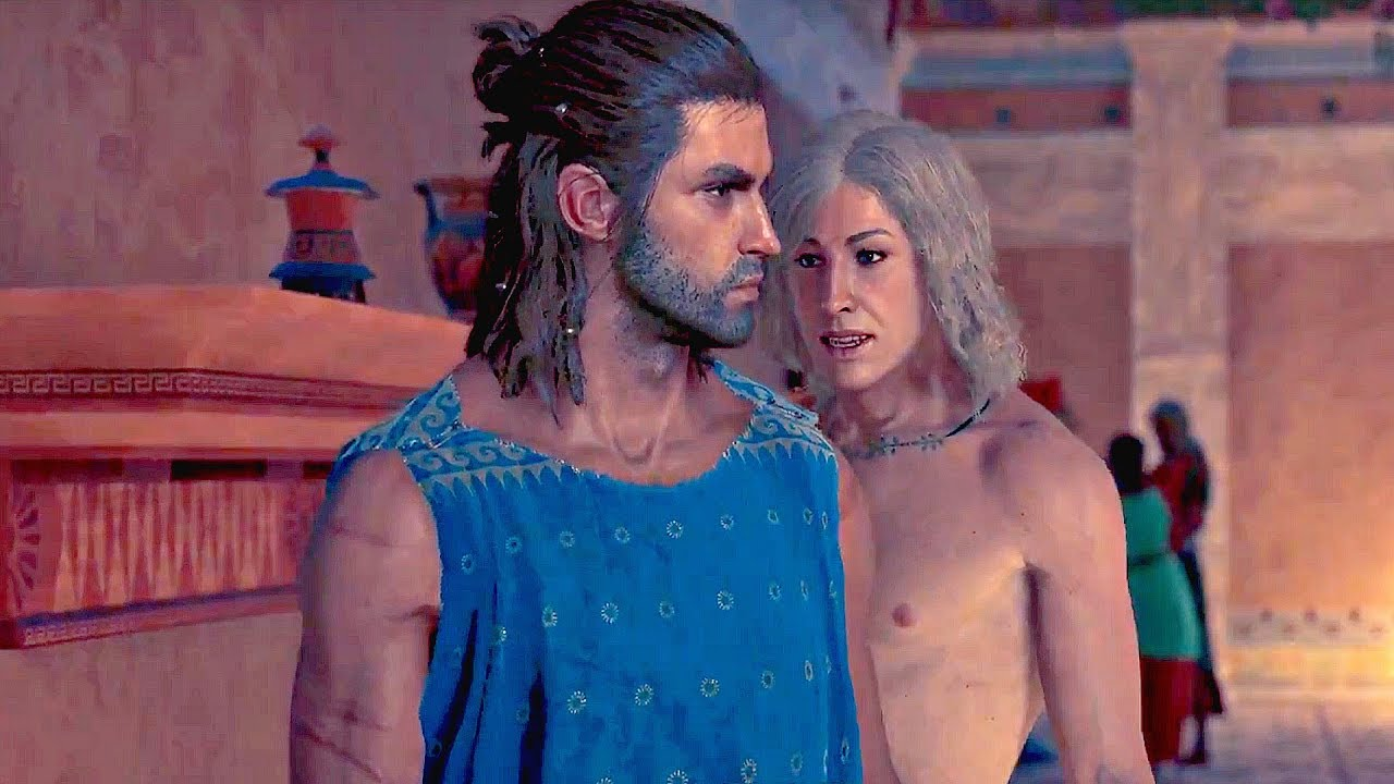 Assassin S Creed Odyssey Alkibiades Romance Scene Gay Man