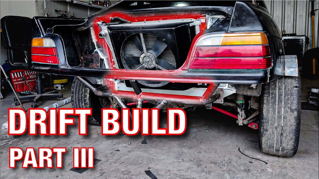 BMW E36 V8 DRIFT - MONTAGEM RADIADOR TRASEIRO