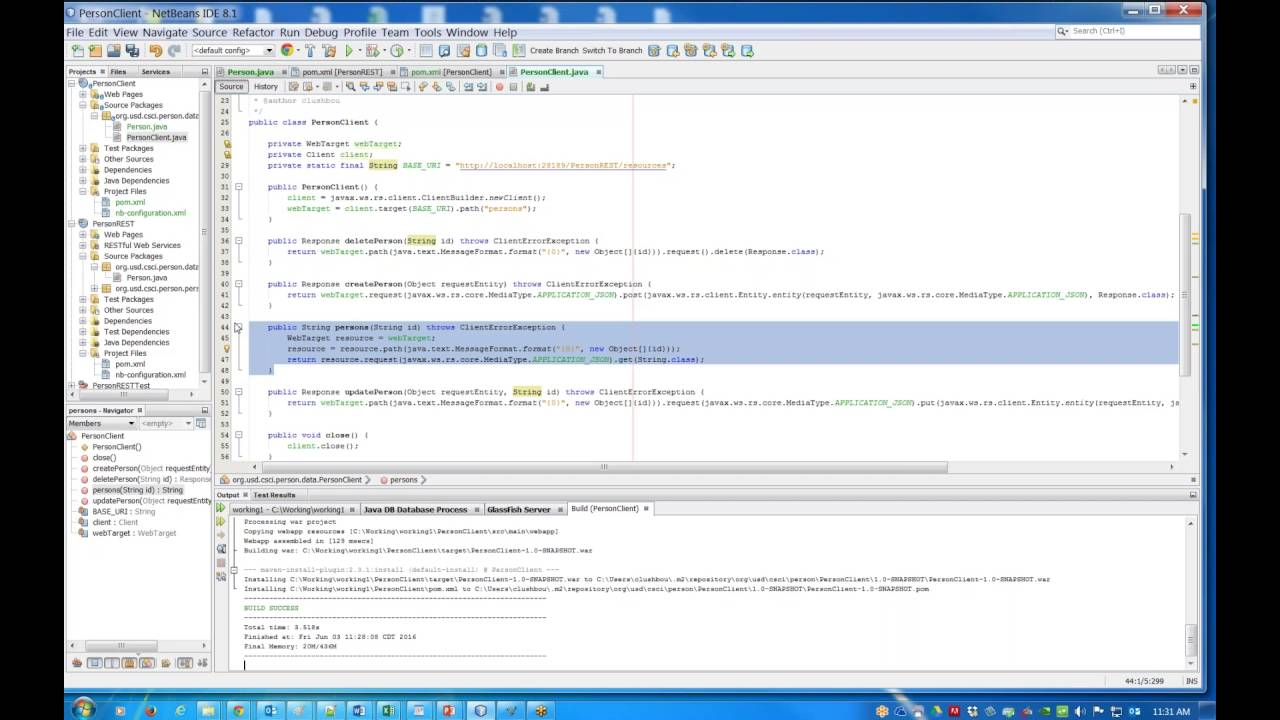 Creating RESTFul Client in NetBeans
