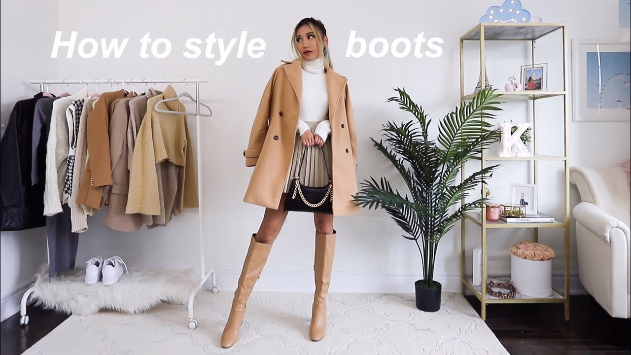 How to style boots for fall 2020 | knee high & thigh high boots outfit ideas ?