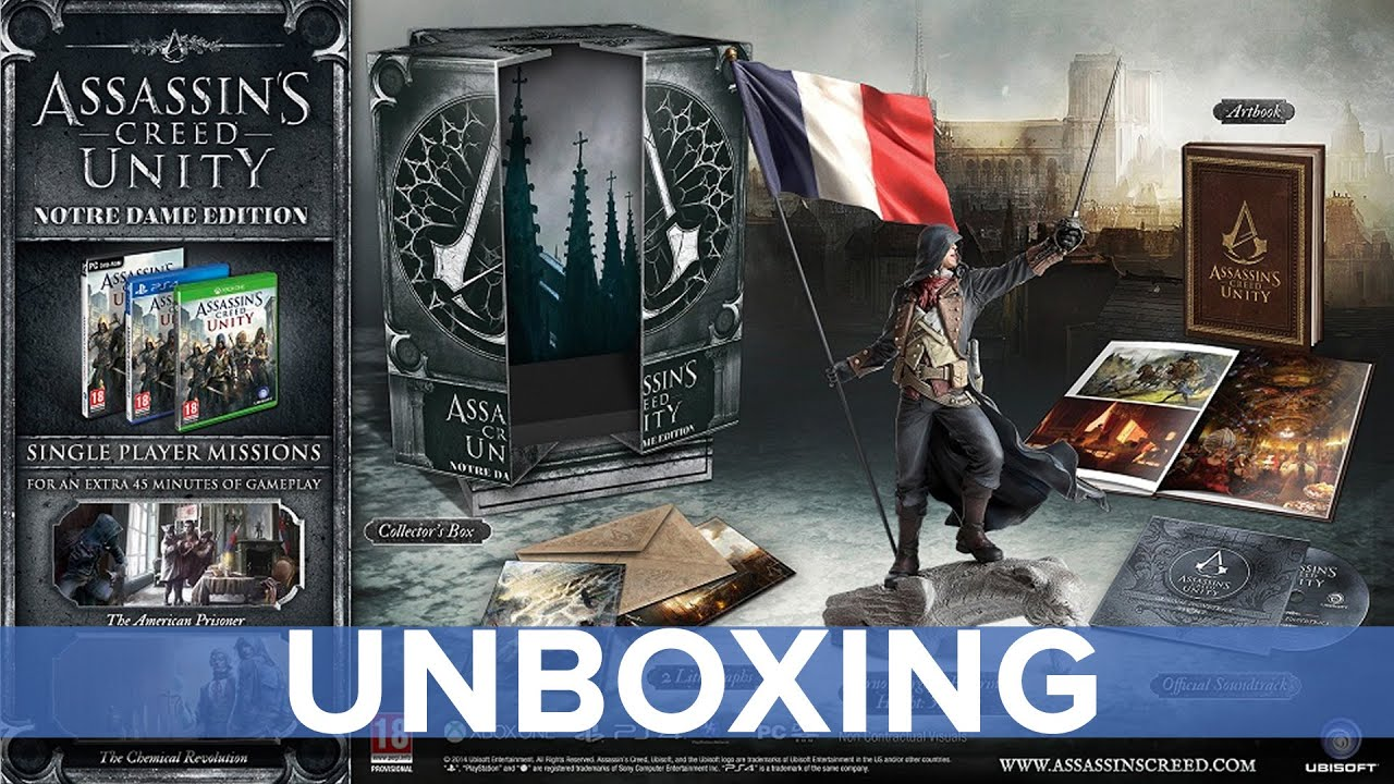 Assassin S Creed Unity Notre Dame Edition Unboxing Eurogamer