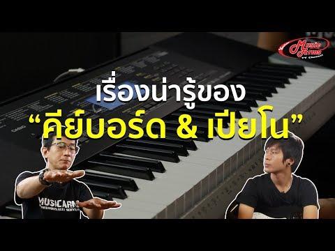 เรื่องน่ารู้เ�ี่ยว�ับคีย์บอร์ด�ละเปียโน