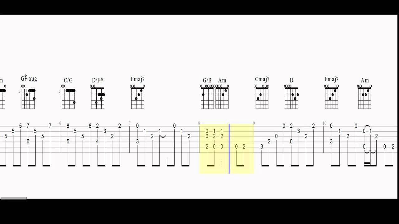 Guitar Tab - Intro - Stairway to Heaven - Chords and tab ...