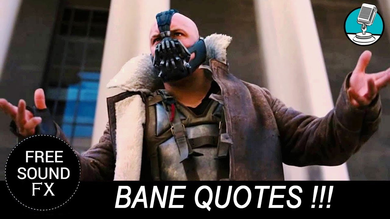 Bane Quote Let The Games Begin Sound Masters Youtube