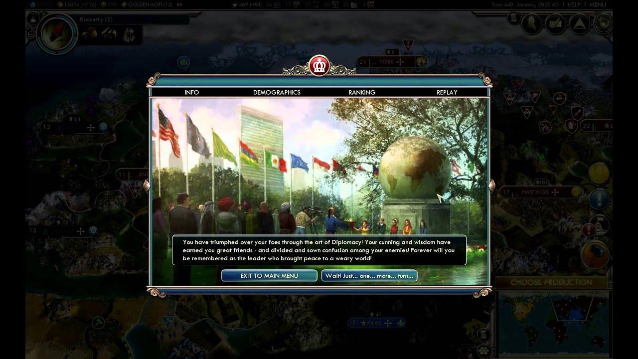diplomatic victory civ 5 youtube rh youtube com Civilization Vi Civilization Vi