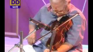 Prof T N Krishnan plays violin in
