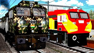 Indian Army Train Journey    MLW Military WDG4G Special In MSTS    Southern Railways screenshot 2