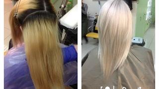 Окрашивание волос: Блонд - из желтого в холодный.(Окрашивание волос: Блонд - из желтого в холодный. Продукция фирмы Rolland (Италия). 1. Осветление: Hmilk + Hbleach + 30..., 2017-02-15T01:10:35.000Z)