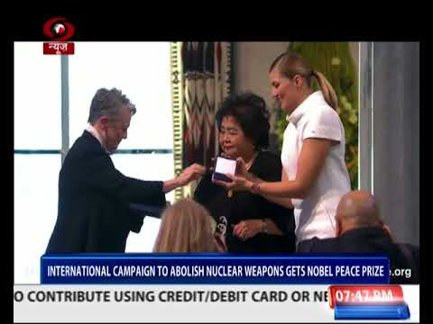 Anti-nuclear group ICAN receives Nobel Peace Prize 2017