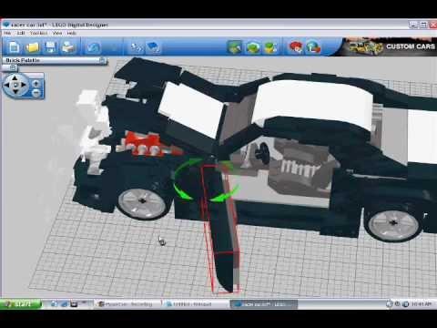 lego digital designer racer car youtube. Black Bedroom Furniture Sets. Home Design Ideas