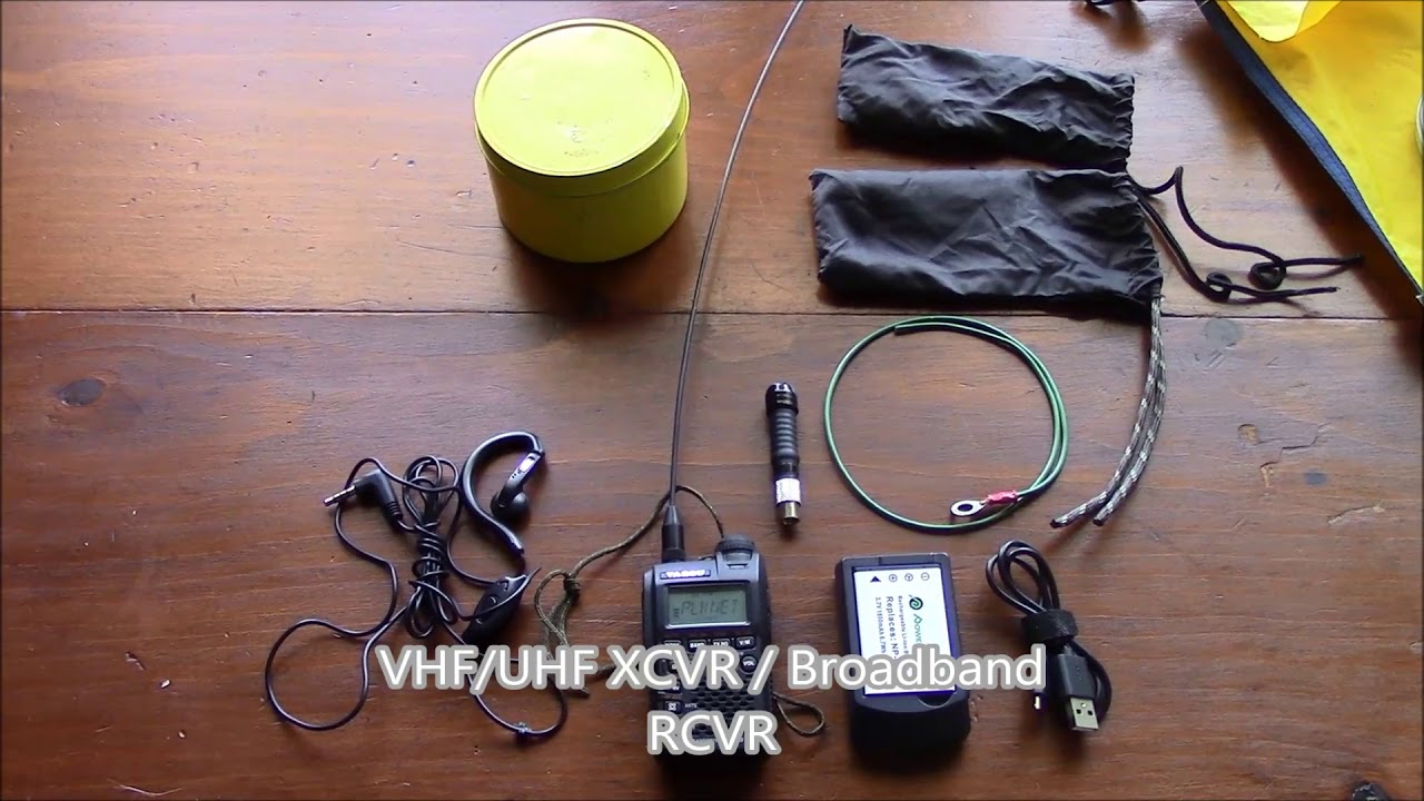 Bugout Bag Communications VR10 Step One Survival bugout / INCH bag challenge