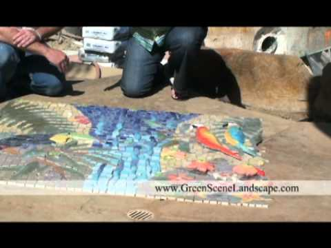 Custom Tile Mosaic Designed by Michelle Griffoul, Swimming Pool and Landscape Design by Scott Cohen