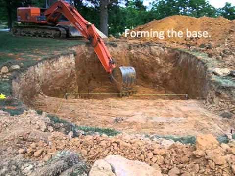 Fiberglass pool excavation youtube for Pool installation companies