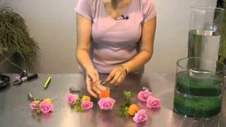 Flores con agua