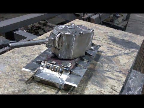 Как сделать модель танка из металла своими руками