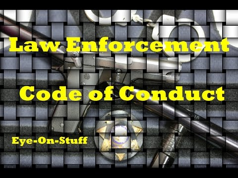 Police / Law Enforcement Code of Ethics : Eye-On-Stuff