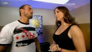 WWE Raw 08/15/11 - CM Punk & Stephanie McMahon Segment