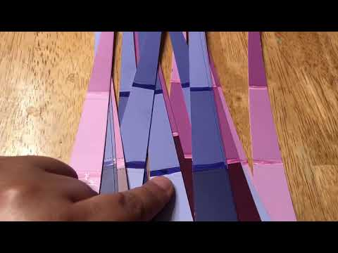 Purple and pink paper beads