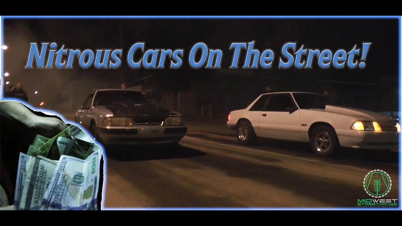 Nitrous Ls Mustang Vs Sbe Nitrous Mustang Heads Up Street Race