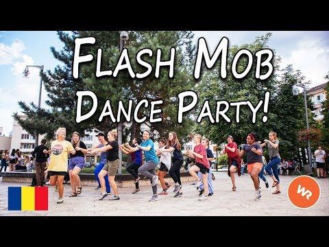 Flash Mob Dance Party In Romania!