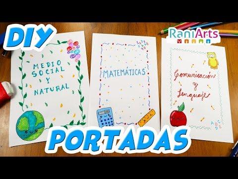 DIY- HAZ PORTADAS / CARÁTULAS FÁCILES PARA TUS CUADERNOS!!!