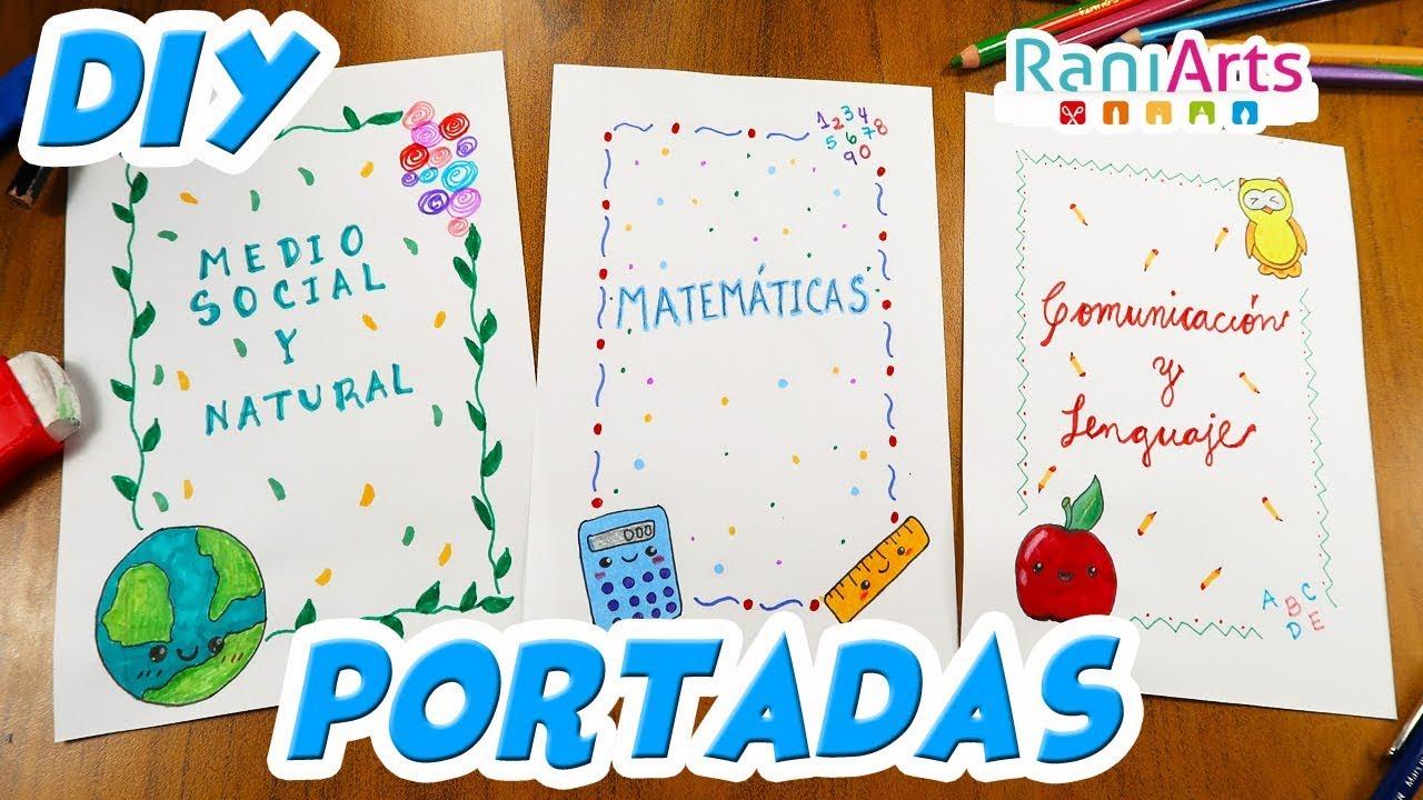 DIY- HAZ PORTADAS / CARÁTULAS FÁCILES PARA TUS CUADERNOS
