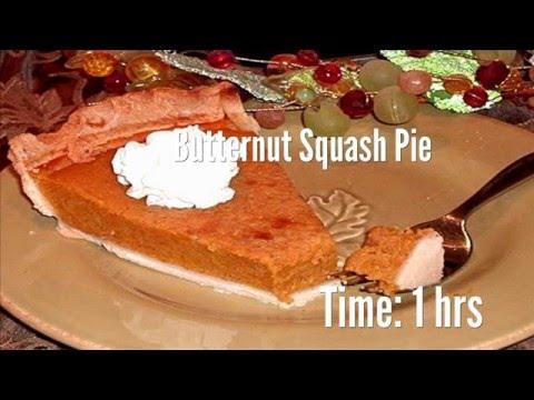 Butternut Squash Pie Recipe