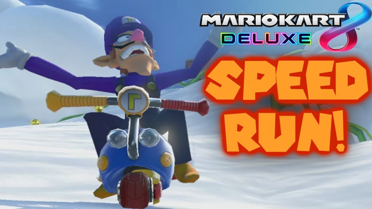 Mario Kart 8 Deluxe 200cc All Tracks Items Speedrun - 1:33:06