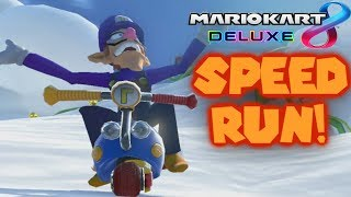 mario kart 8 deluxe 200cc all tracks items speedrun 13306