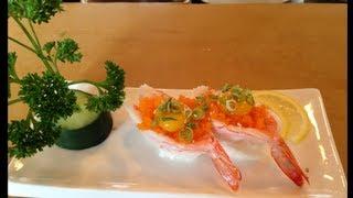 Shrimp boat nigiri sushi