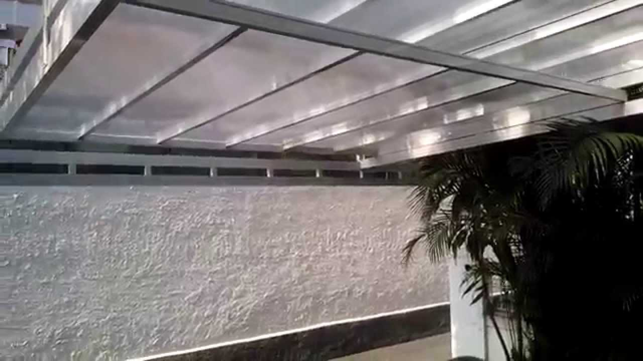 Cobertura em chapas de policarbonato retr til ou for Perfiles aluminio para toldos