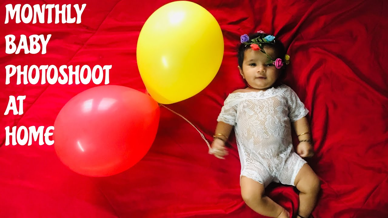 2 Months Old Baby Photoshoot At Home Diy Photoshoot Ideas Baby Photoshoot Ideas At Home Youtube