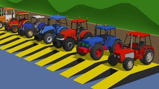 Colorful Tractors - Learning colors - New Version | Kolorowe Traktory [ENG]