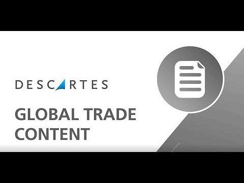Global Trade Content | Descartes
