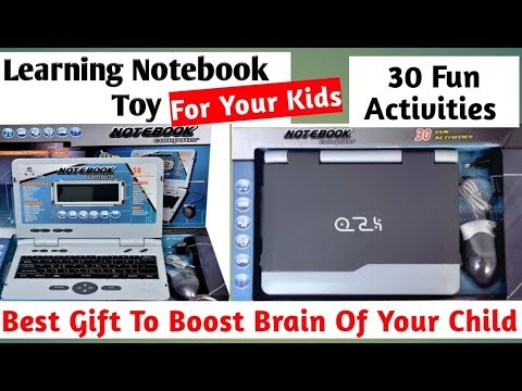 TOY LAPTOP FOR KIDS | Educational Notebook With 30 Fun Activities | REVIEW And UNBOXING