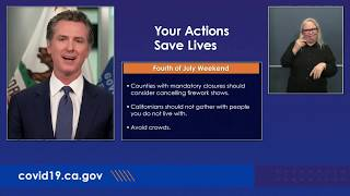 LIVE: Governor Gavin Newsom gives an update on California's COVID-19 fight