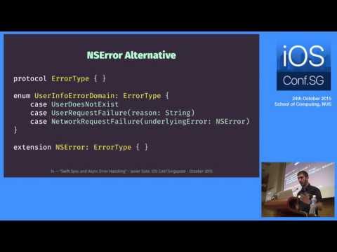 Swift Sync and Async Error Handling - iOS Conf SG 2015