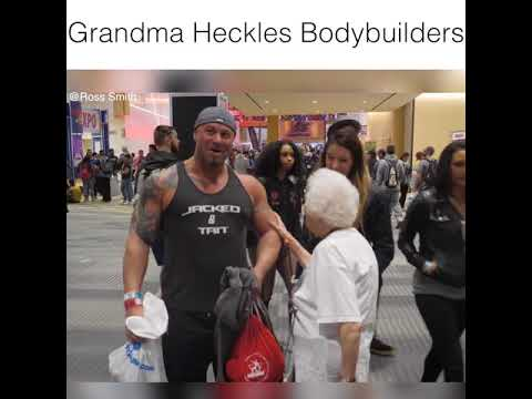 Grandma messes with bodybuilders     Best of Ross Smith