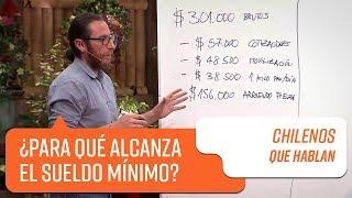 ¿Para qué alcanza el sueldo mínimo?   Chilenos que hablan
