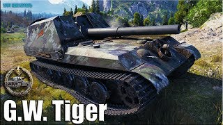 Колобанов на немецкой АРТЕ ✅ World of Tanks G.W. Tiger лучший бой