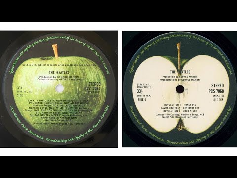 The Beatles Discography -  Side One VS Side Two
