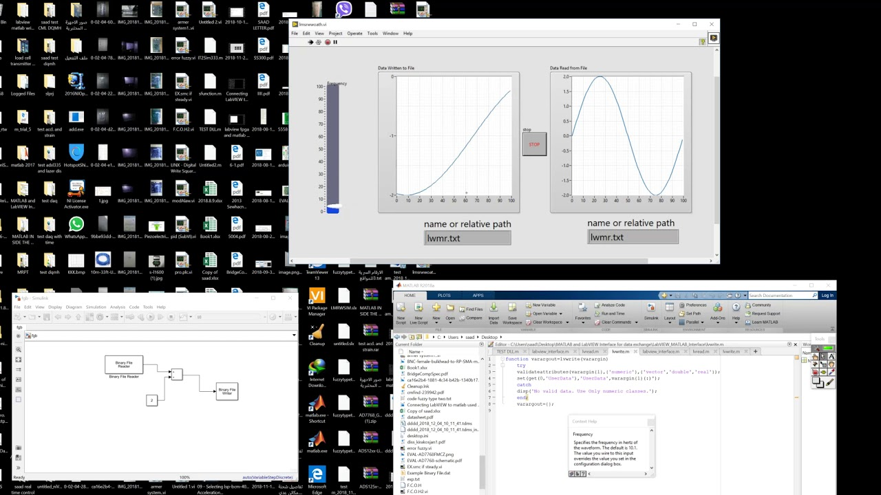 labview and matlab simulink without tcp ip or veristand connection