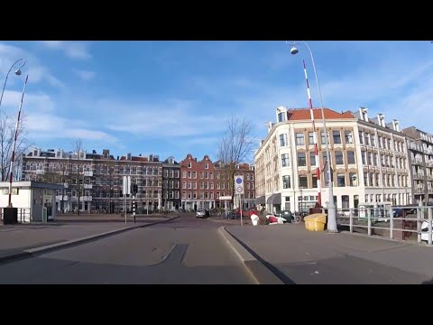 Cycling in Amsterdam. Fietsen in Amsterdam. March 18th 2018