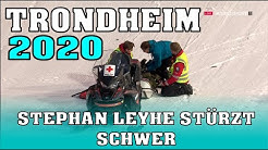 Skispringen: Stephan Leyhe stürzt schwer in Trondheim - 141,5m