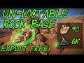 RUST Base Building - Rock Base - (Un-Lootable) Solo base