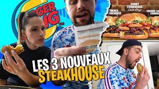 On mange les 3 nouveaux Steakhouse de chez Burger King avec Pidi ! (je préfère celui au poulet ?)