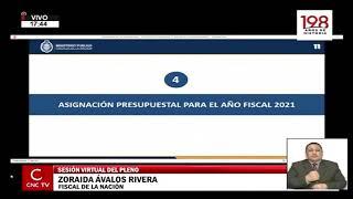 Fiscal de la Nación sustenta el presupuesto del Ministerio Público para el año 2021